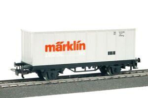 """4481 MÄRKLIN HO – Containerwagen """"Marklin""""/Wagon container""""Marklin"""" (E2101796)"""