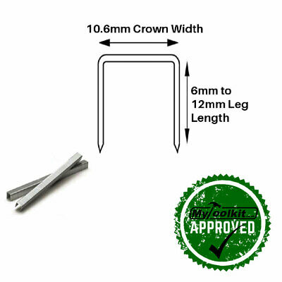 TACWISE 140 SERIES STAPLE 2000 OR 5000 G11 6MM 8MM 10MM 12MM 14MM STAINLESS