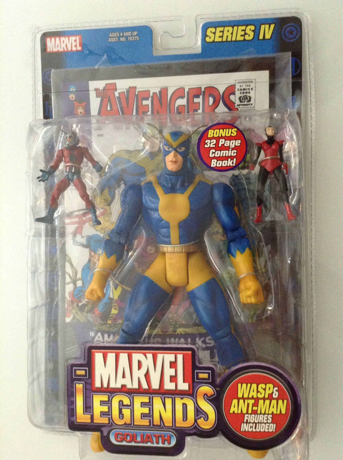 MARVEL LEGENDS SERIES IV GOLIATH ANT-MAN WASP VARIANT FIGURE INCENTIVE AVENGERS