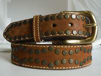 Justin Flathead Leather Belt Sizes 36, 42 C11139