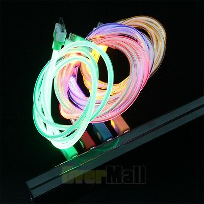 New LED Light 30pins USB Sync Charger Cable for iPhone 4G 4S 3S Four Color