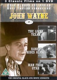 1 of 1 - Lucky Texan / Randy Rides Alone / Man From Utah (DVD, 2004) John Wayne
