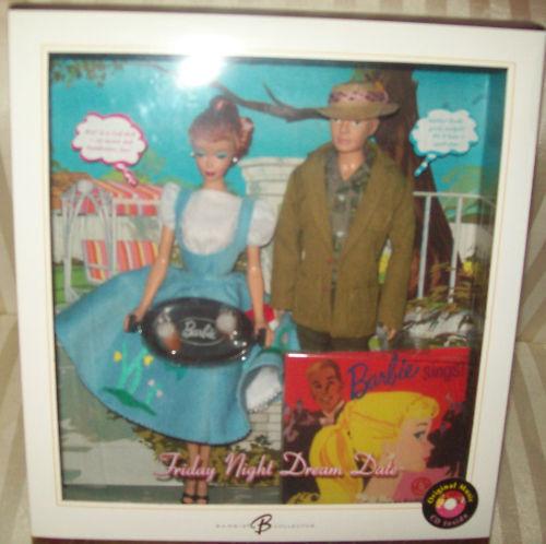 2006 viernes noche fecha Barbie & Ken Repro Giftset Mib