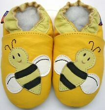 Mini Shoezoo bee yellow 18-24 soft sole leather baby shoes zoo slippers