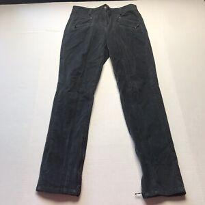 Leifsdottir-Anthropologie-Gray-Corduroy-Zip-Ankle-Pants-Size-29-A467