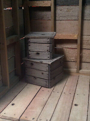 1:12 Miniature Crates Variety of 6 Pieces Solid Wood Block  Action Figures