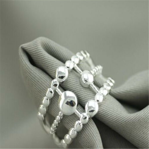925 solide Argent sterling plaqué femmes//hommes New Fashion Ring Cadeau Taille Ouvert HJ218