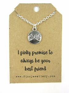 034-I-Pinky-Promise-to-Always-Be-Your-Best-Friend-034-Message-Card-Gift-Necklace-New