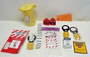 Brady Lock Board w/ Safety Padlock, Hasps, Tags, Lockout