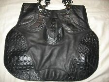 Handmade Leather Purse Papa and K Shoulder Bag Embossed Black  Boho Los Angeles