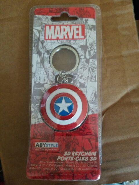 Porte-clé métal 3D Captain America Shield Marvel ABYstyle