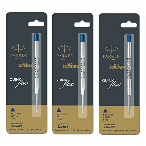 Black /& Blue Ballpoint Pen Refills Parker /& Cross Compatible New Refills Q5P3