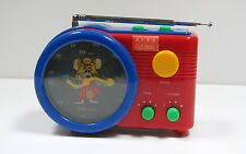 RARE VTG Mouse Clock Radio FM AM SM Maxman Model M626 Global Radio Inc  USA