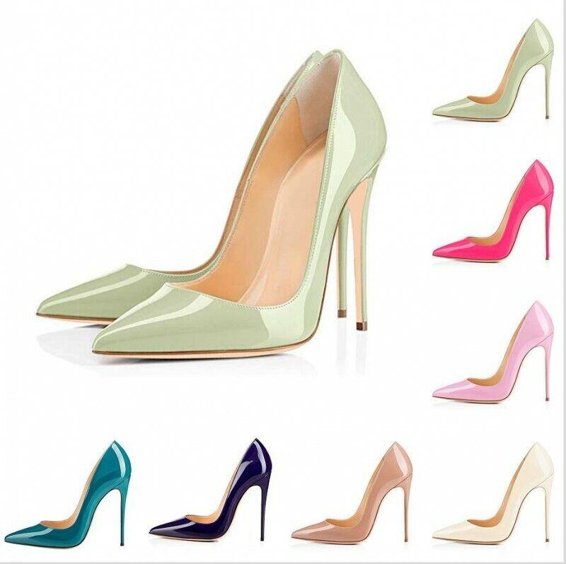 Sexy Damen Spitz Stiletto High Heel OL-pumps Arbeitsschuhe Gr.35-47 Celeb Gift