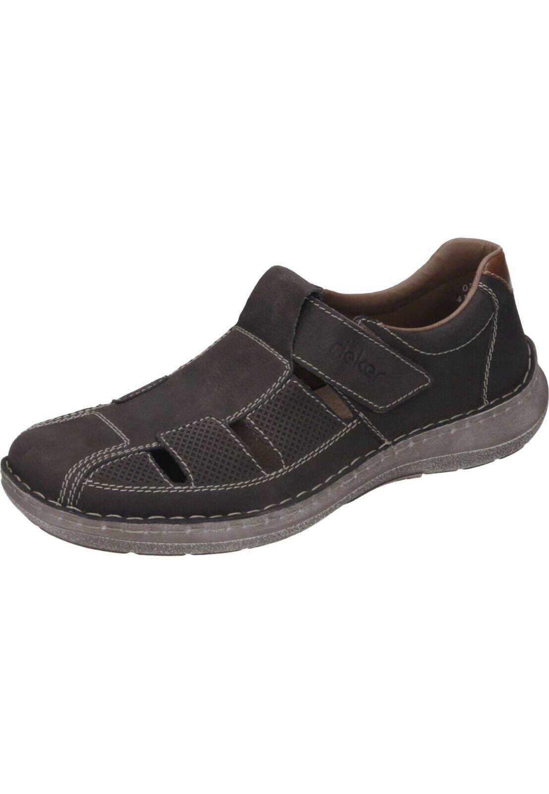 Rieker Sandales Cuir Pantoufles Chaussures hommes marron Taille 40 - 46 03065-25 neu10