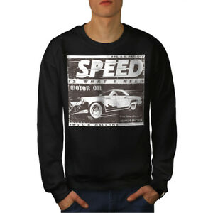 Vintage Racing ​​Car New Black Felpa uomo da Speed ECPTx4qnAw