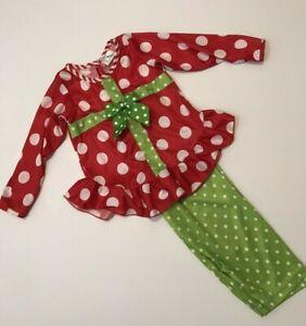Girls-3T-Boutique-Laura-Dare-Silky-Ruffle-2pc-Christmas-Pajamas-Polka-Dot