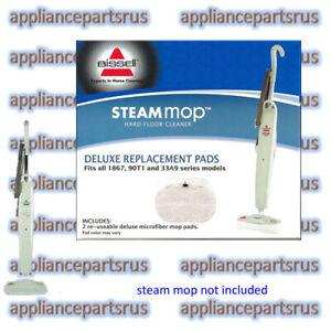 Bissell-Steam-Mop-Floor-Pads-Suit-1867L-3255-3250-Pk2-53M4-NEW-GENUINE