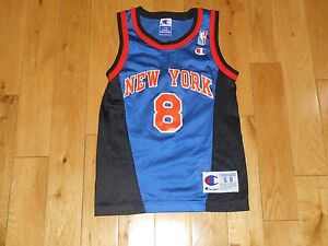 Vintage 90s Champion LATRELL SPREWELL NEW YORK KNICKS Youth NBA Team ... 3e7f631e1