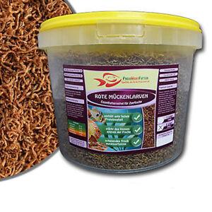 FD-Rote-Mueckenlarven-3-Liter-Eimer-300-g-Futter-Zierfische-Gefriergetrocknet