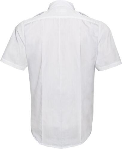 Uniform Short Sleeve Shirt Men/'s Official Duty 2 Pocket Epaulets Police Security