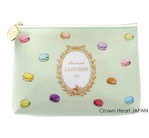 New LADUREE Paris PVC Flat Pouch Cosmetic Bag (S) Macaron by MARK'S Inc