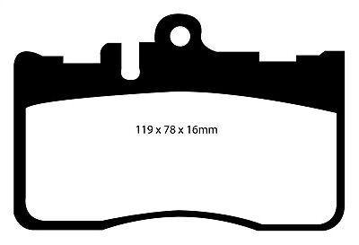 DP31622C EBC Redstuff Front Brake Pads fit LEXUS LS430