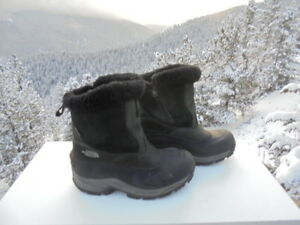5550a03ca Details about THE NORTH FACE Women's Black Leather 400g Primaloft Winter  Boot 7M