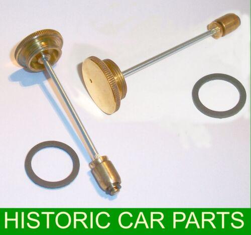 """2 x 1 1//4 /""""H2 su Carburatore in Ottone Pistone Ammortizzatore /& Guarnizione Per MG TD Mk1 1950-53"""