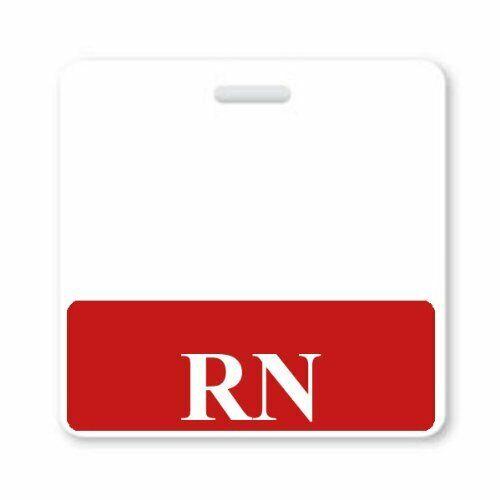 Hospital ID Buddy Horizontal RN Badge Buddies for Registered Nurses 25 Pack