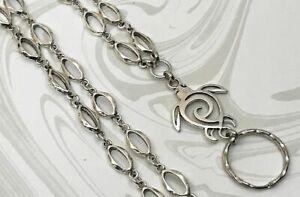 Silver-Sea-Turtle-Silver-Chain-Lanyard-ID-Badge-Holder-Breakaway-Option
