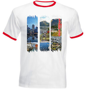 OSLO-NORWAY-NEW-RED-RINGER-COTTON-TSHIRT