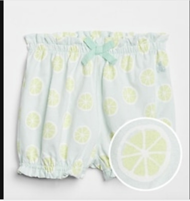 BABY GAP Ice cream pink Bow Bubble Shorts 6-12M 12-18M N3 NNN