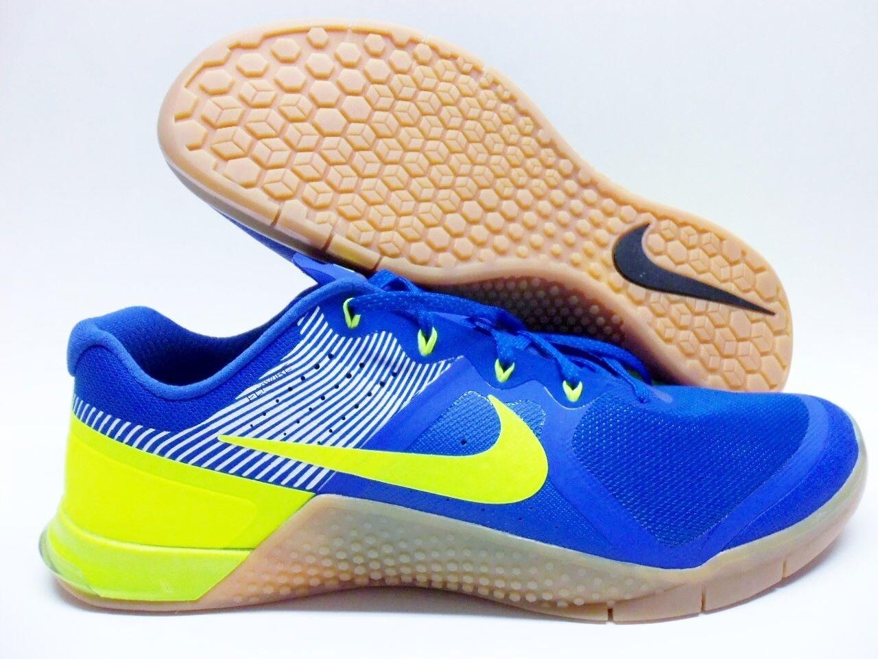 Nike metcon 2 royal id varsity royal 2 / volt-white-gum dimensioni uomini 14 [846027-991] 016305