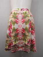 Plus Size 1x Skirt Inc Tropical Bloom Elastic Waist Above Knee Stretch Knit