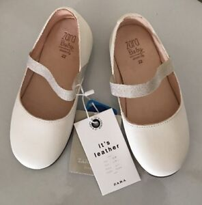 Real Zara Immagine caricando Girl Shoes Sz sta White Baby Leather xCordBe