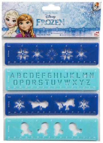 Frozen 4Pcs Stencil Set Alphabet,Snowflake,Snowman,Elsa,Anna Creative Craft Art