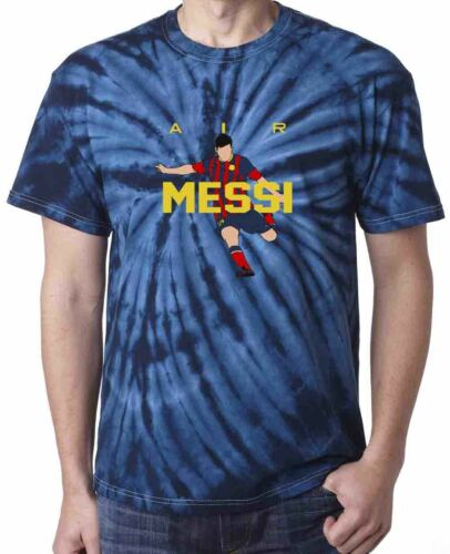 "Tie-Dye NAVY Lionel Messi FC Barcelona /""NEW AIR/""  T-Shirt  Shirt"