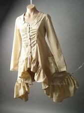 Frill Tailcoat Victorian Country Prairie Steampunk Lagenlook Top 104 ac Blouse L