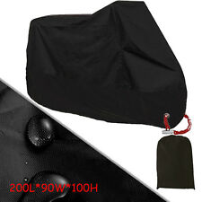 Black Motorcycle Cover For Kawasaki Ninja ZX ZZR 250 500 ER 5 Cover M