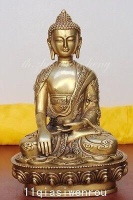 Tibet Tibetan Buddhis shakyamuni bronze buddha statue