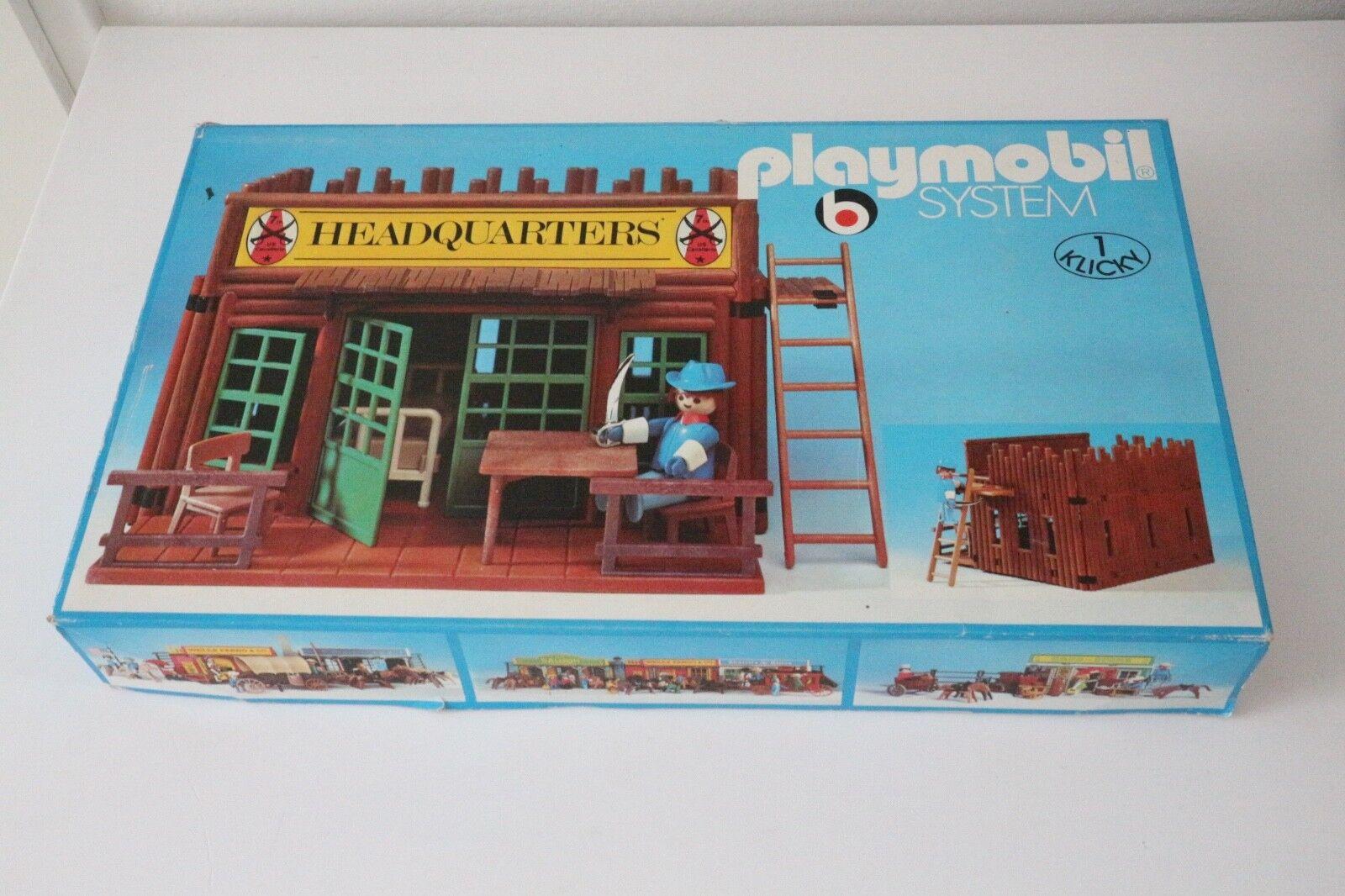 Playmobil 3429 setnr.nya neu nouveau västliga klibbiga huvudbyggnader, fort, union