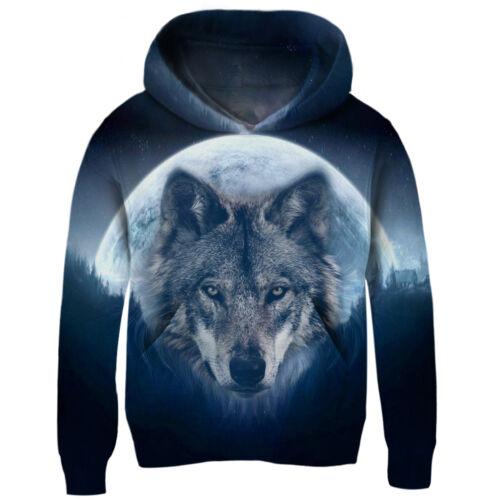 Boys//Girls Novetly Wolf Galaxy 3D Print Hoodie Pullover Hoody Sweatshirts Tops
