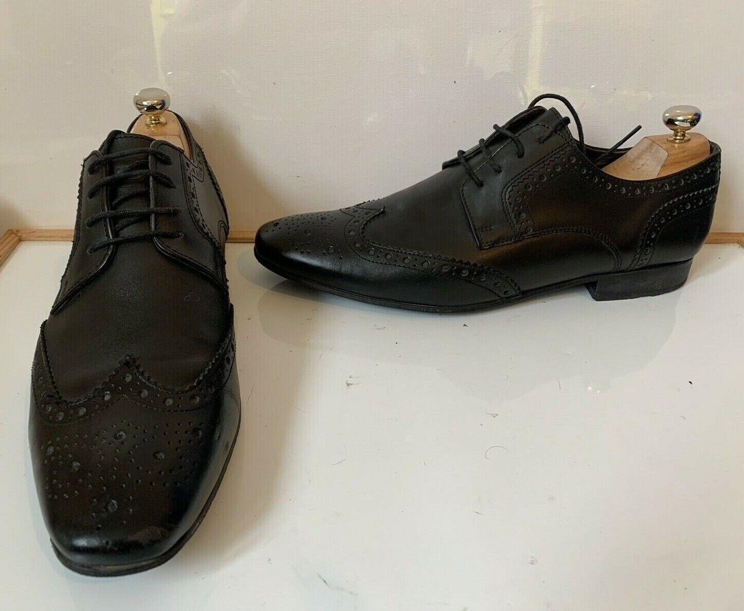 Base London Brogue Smart Black Leather Shoes Size UK 11 EU 46