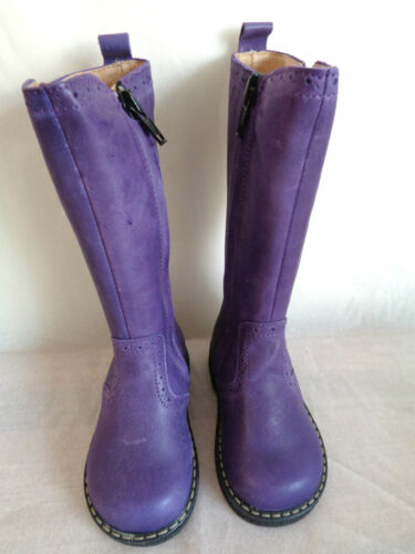 BO-BELL GIRLS TODDLER ROXY PURPLE KNEE HIGH LEATHER ZIP BOOTS UK4 UK5 UK5.5 UK6