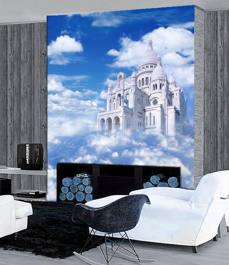 3D Himmel Schlosswolke 6 Tapete Tapeten Mauer Foto Familie Tapete Wandgemälde DE