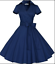 50s-60s-Retro-Hepburn-Style-V-Neck-Swing-Lapel-Rockabilly-Housewife-Pinup-Dress thumbnail 13