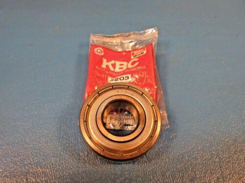 6203 Single Row Radial Ball Bearing Korea Fafnir 203KDD, NTN KBC 6203-ZZ C3
