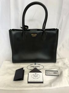 2c908656af23d4 Image is loading Prada-Bibliotheque-Double-Handle-Large-Accordian-Tote-Bag-