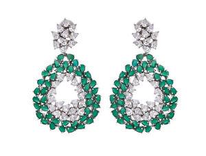 AMISHI LONDON Emerald Coloured and Clear Crystals Dafni Drop Earrings Brand New - Greenock, Inverclyde, United Kingdom - AMISHI LONDON Emerald Coloured and Clear Crystals Dafni Drop Earrings Brand New - Greenock, Inverclyde, United Kingdom